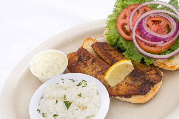 Blackened Tilapia Sandwich